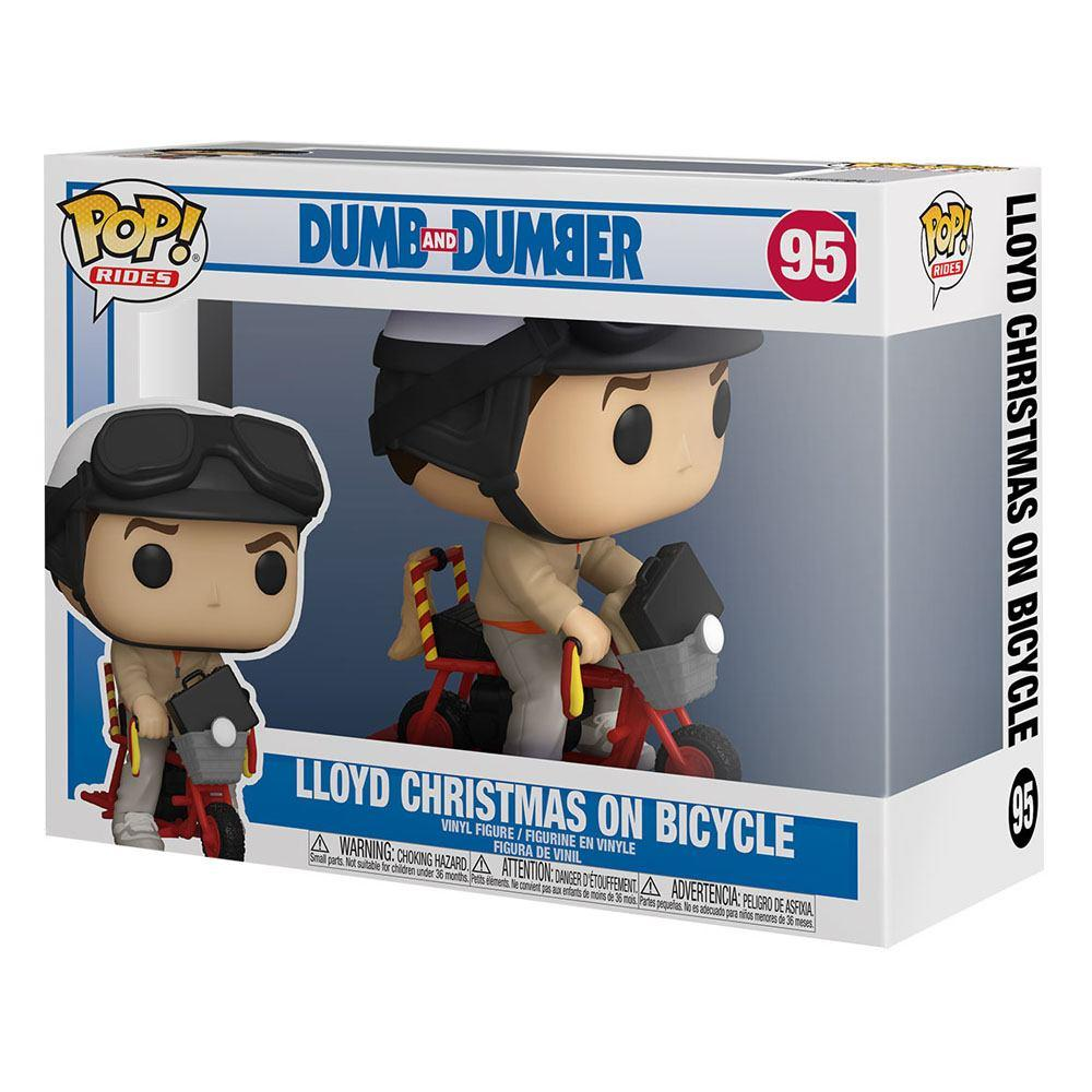 Dumb and dumber pop figurine lloyd christmas on bicycle 2
