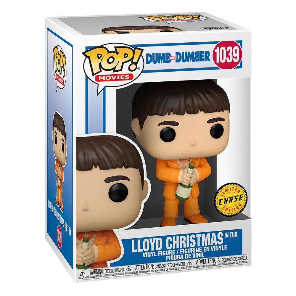 Dumb and dumber pop figurines lloyd christmas in tux 9 cm chase 1