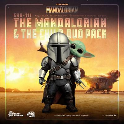 Star Wars figurines Egg attack action the Mandalorian & the Child 7 - 17 cm