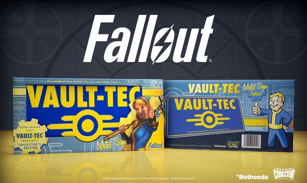 Fallout panneau metal vaul tec 2
