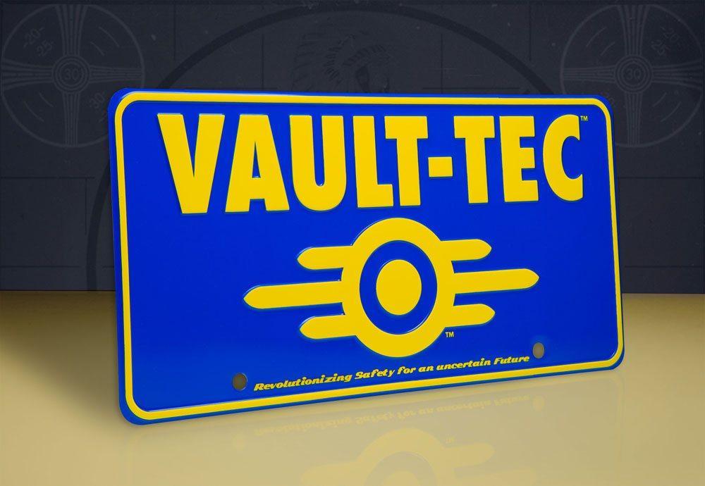 Fallout panneau metal vaul tec 3