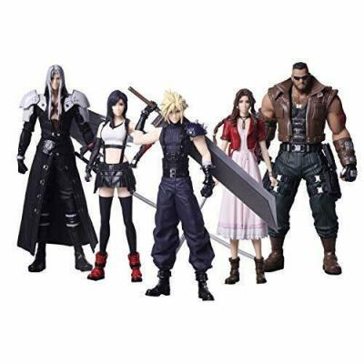 Pack de 5 figurines Final Fantasy VII Remake Trading Arts 10 cm.
