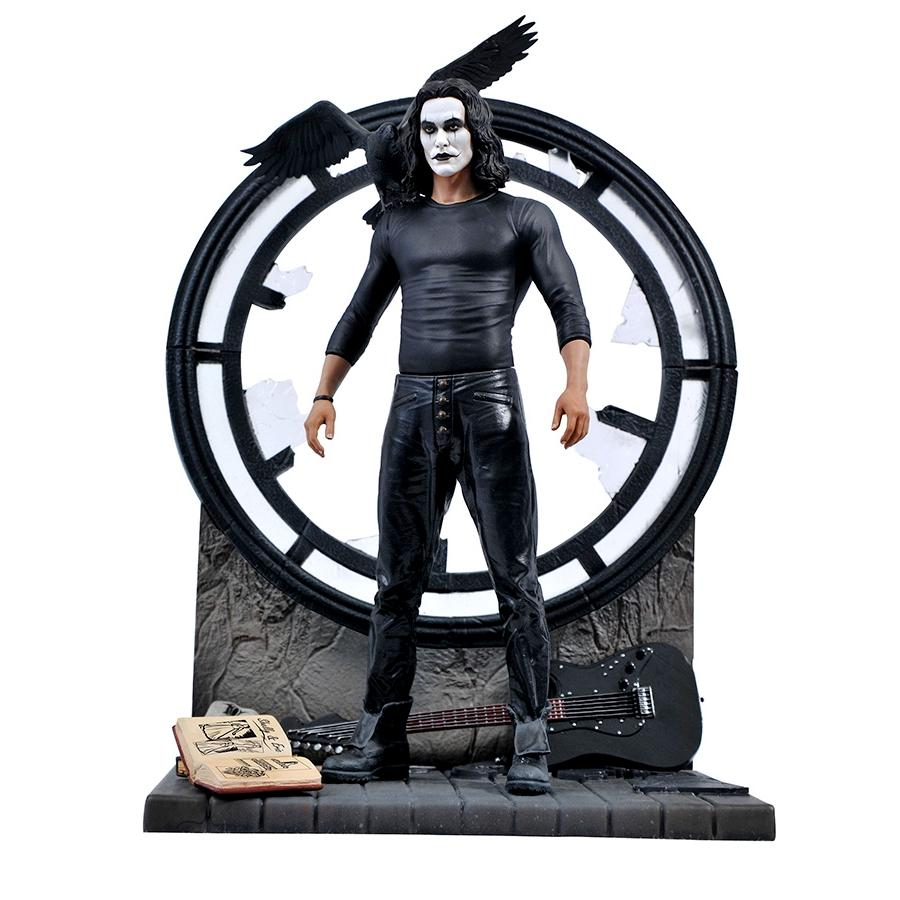 Figurine the crow eric draven statuette brandon lee diamond select toy 25cm