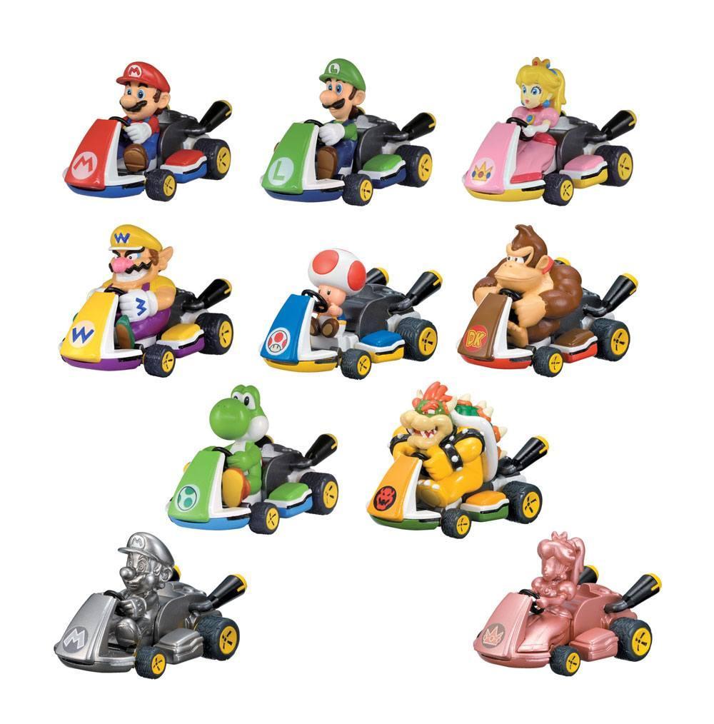 Figurine voiture super mario kart tomy suukoo toys 2