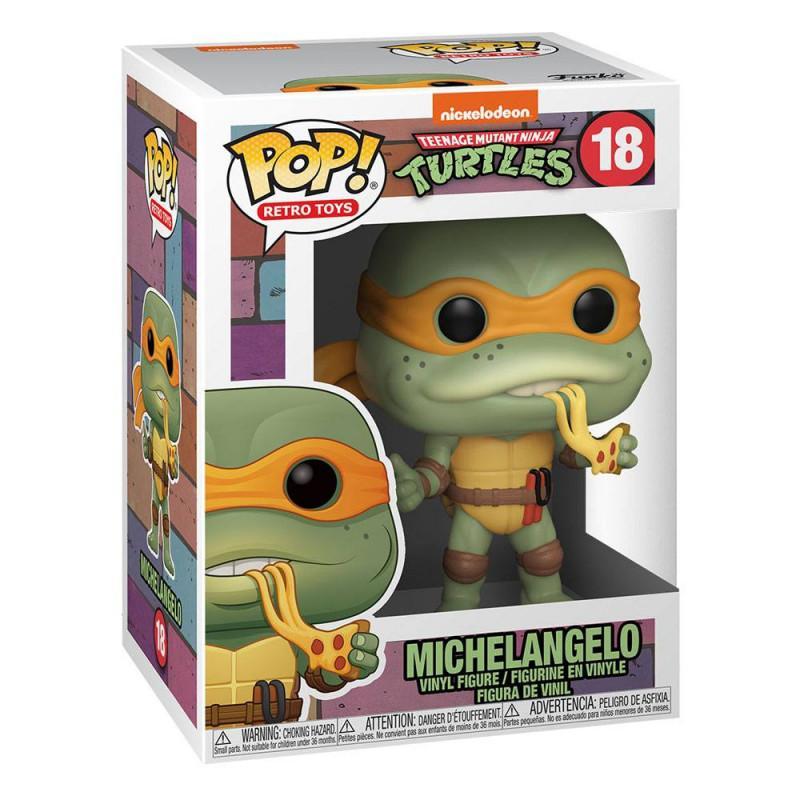 Funko fk51433 les tortues ninja pop television vinyl figurine michelangelo 9 cm