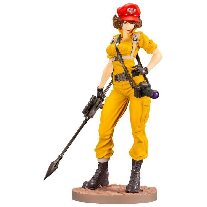 G i joe bishoujo statuette pvc 17 lady jaye canary ann color version 23 cm 1