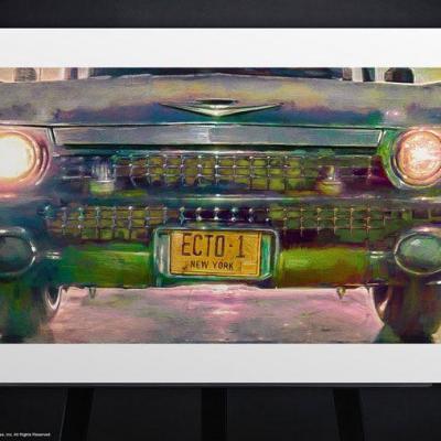Ghostbusters impression Art Print Ecto-1 46 x 61 cm - non encadrée - Édition limitée
