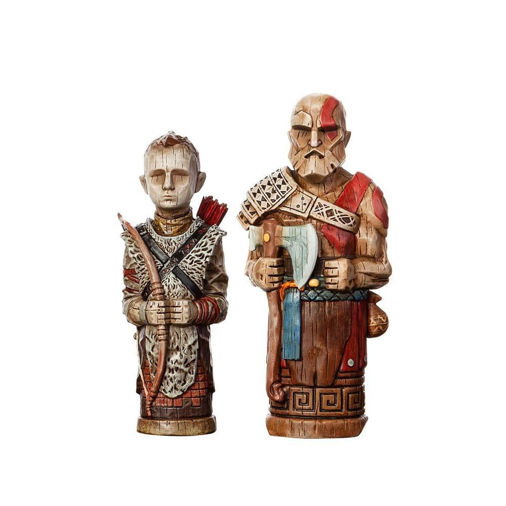 God of war pack 2 statuettes atreus toys 16 18 cm 2