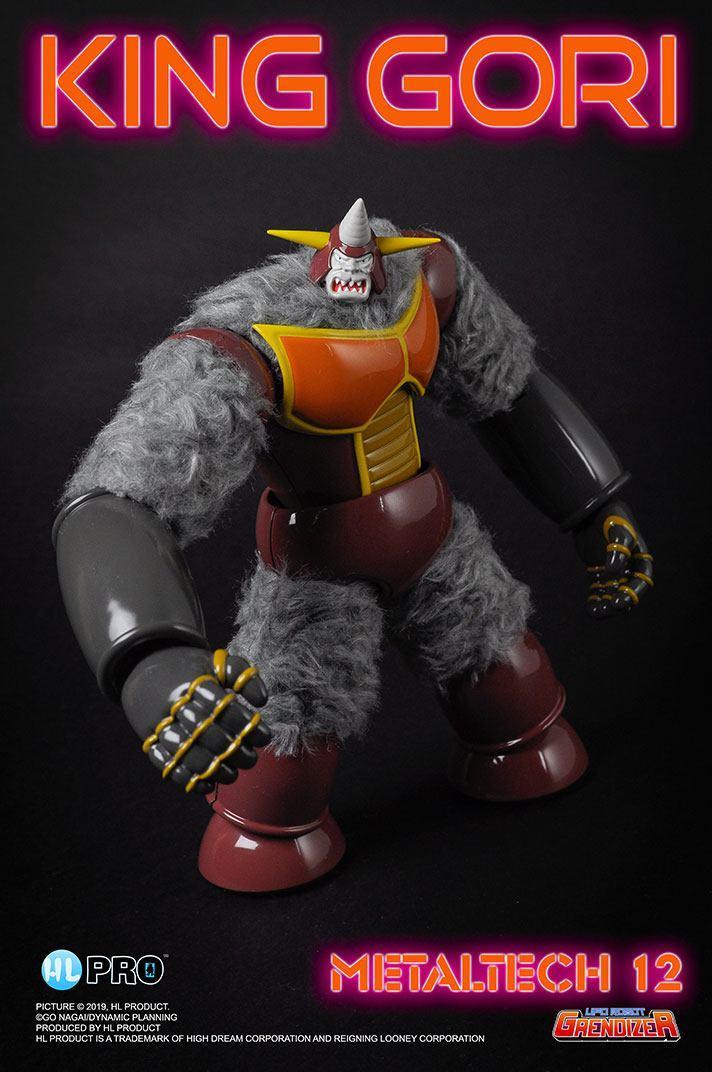 Goldorak grendizer figurine diecast metaltech 12 king gori 18 cm 3