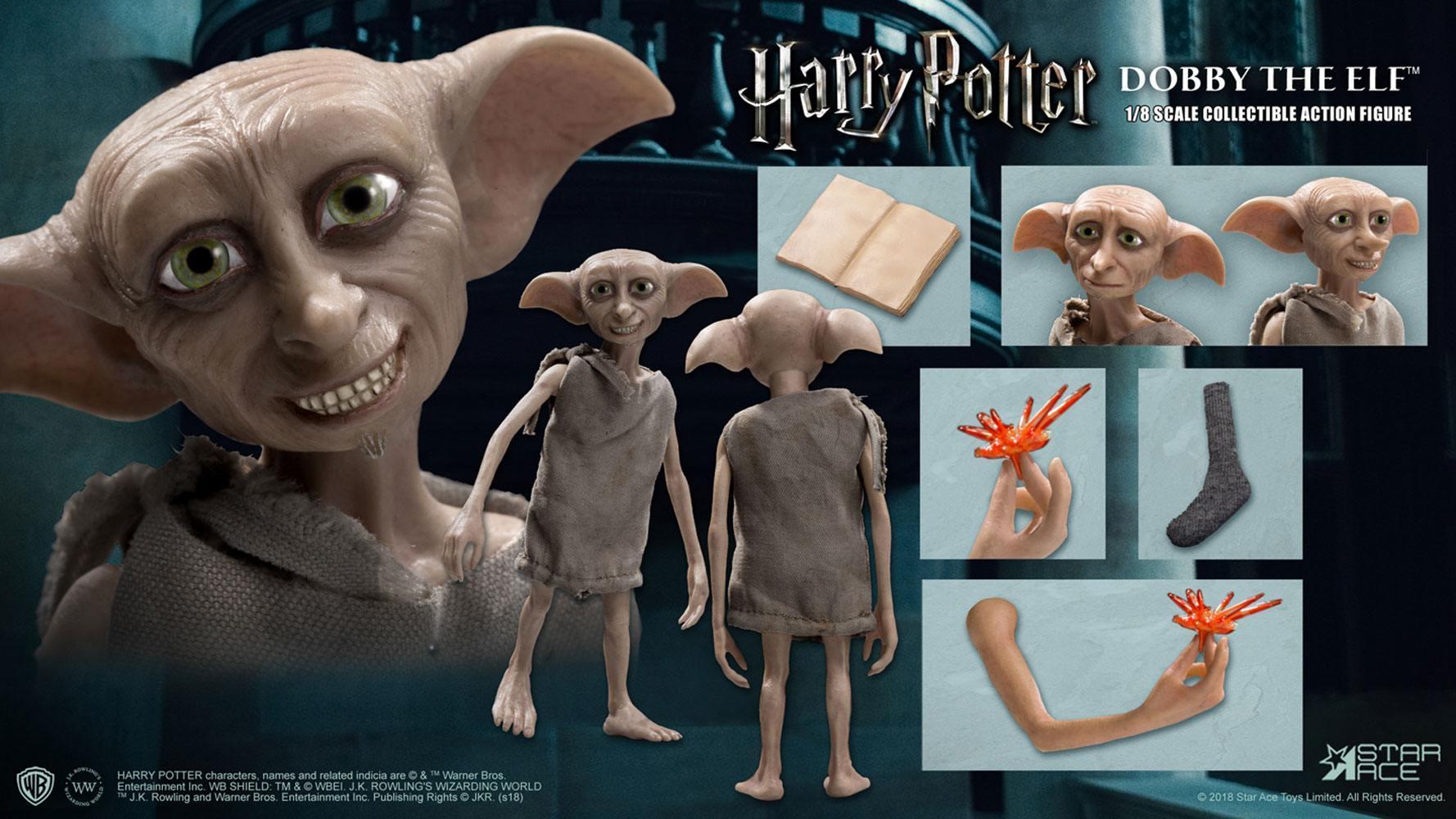 Harry potter et la chambre des secrets figurine real master series dobby 7