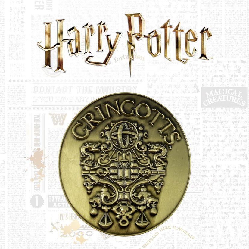 Harry potter medaillon gringotts crest limited edition 1