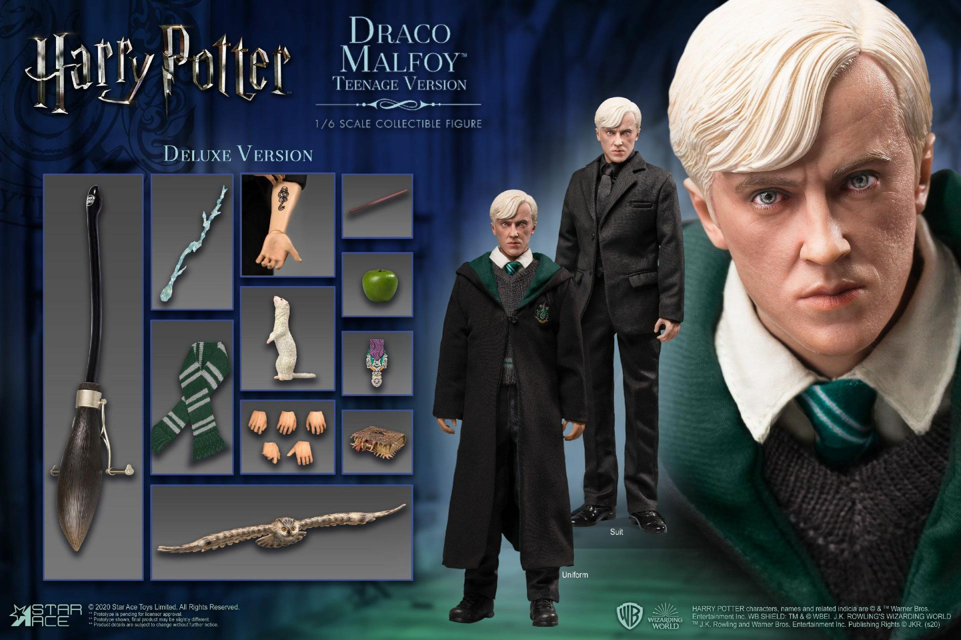 Harry potter my favourite movie figurine 16 draco malfoy teenager deluxe version 26 cm 1