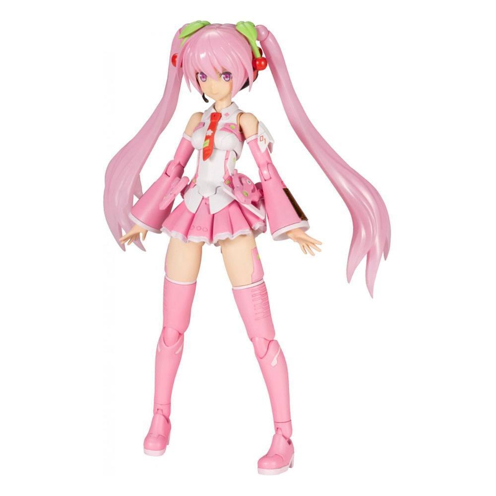 Hatsune miku frame music girl figurine plastic model kit sakura miku 15 cm 1