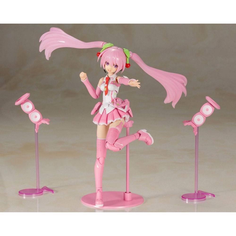 Hatsune miku frame music girl figurine plastic model kit sakura miku 15 cm 2