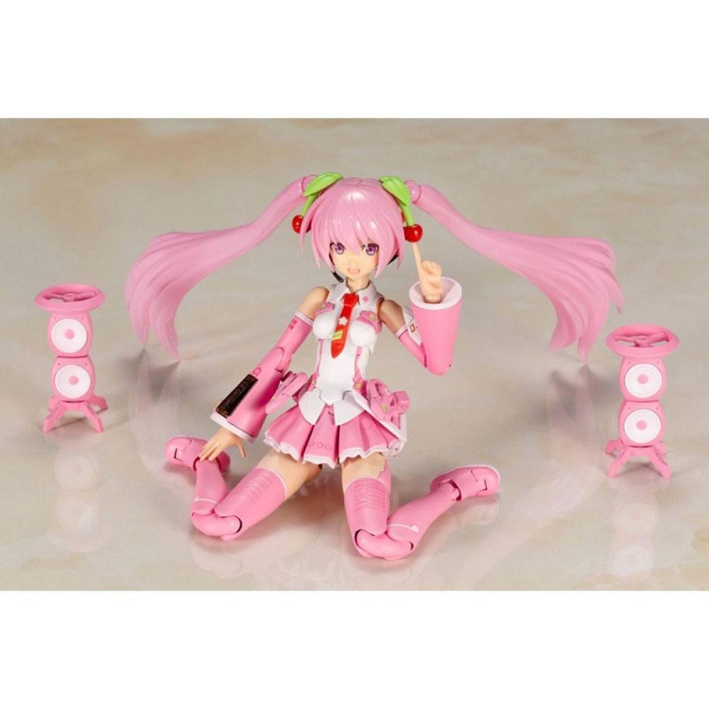 Hatsune miku frame music girl figurine plastic model kit sakura miku 15 cm 3