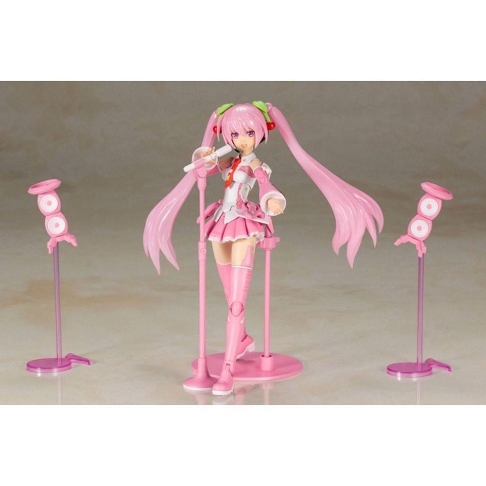 Hatsune miku frame music girl figurine plastic model kit sakura miku 15 cm 4