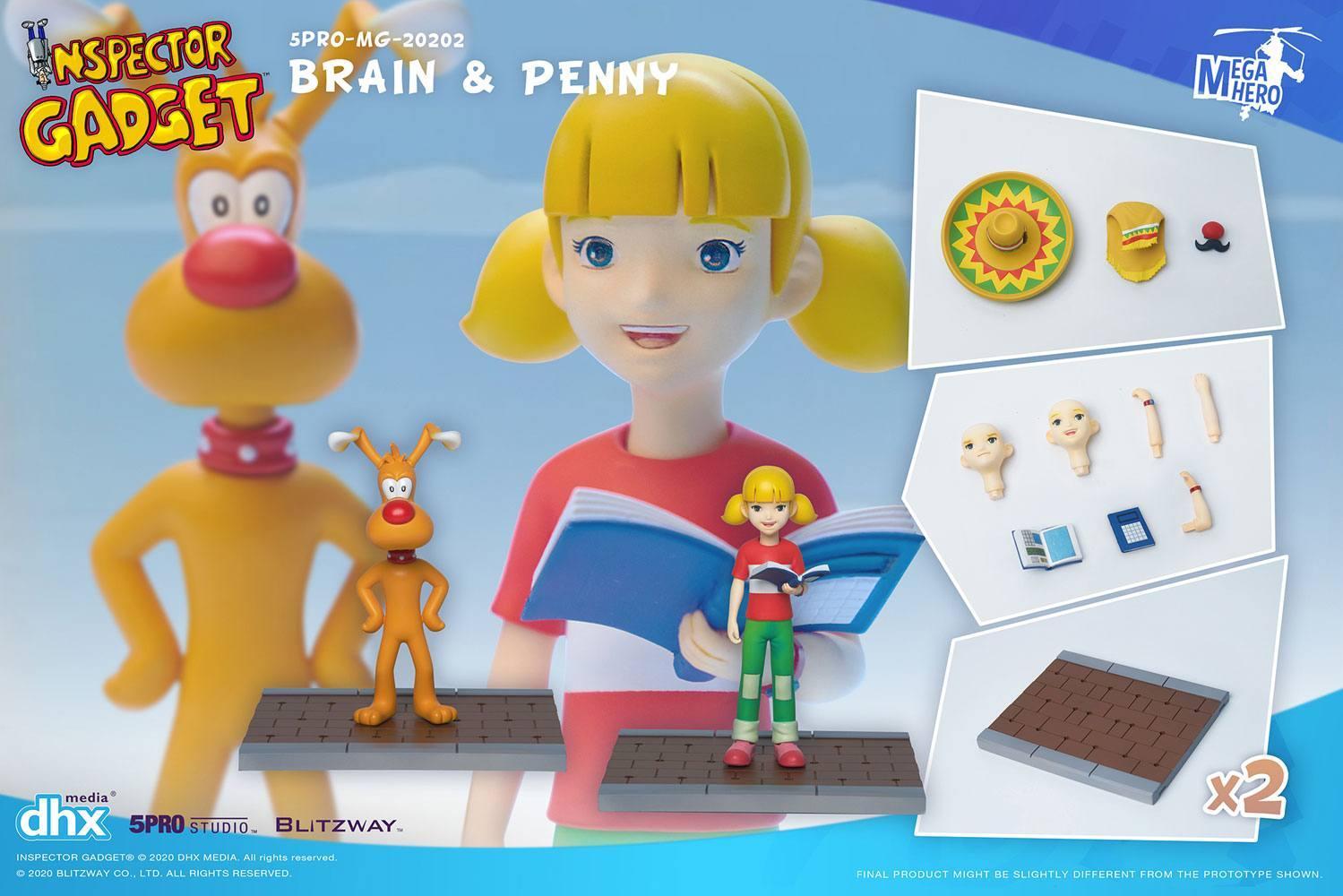 Inspecteur gadget pack 2 figurines 112 brain penny 11 cm 2