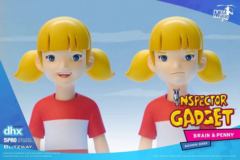 Inspecteur gadget pack 2 figurines 112 brain penny 11 cm 4
