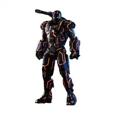 Iron Man 2 figurine Movie Masterpiece Series Diecast 1/6 Neon Tech War Machine Hot Toys Exclusive