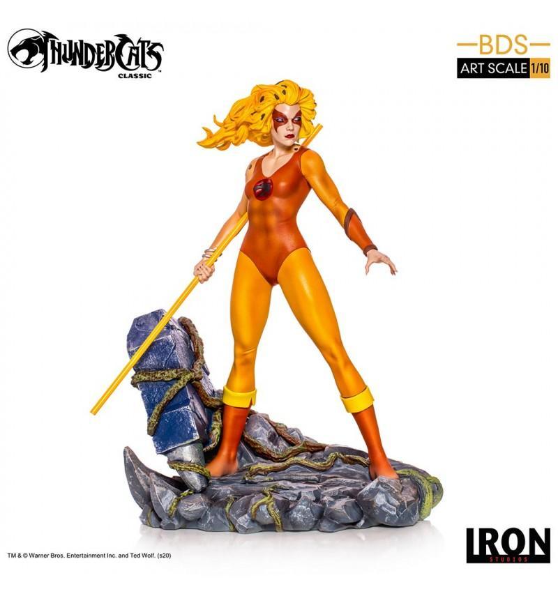 Iron studios bds art scale thundercats cosmocats resine cheetara felibelle 20cm suukoo toys