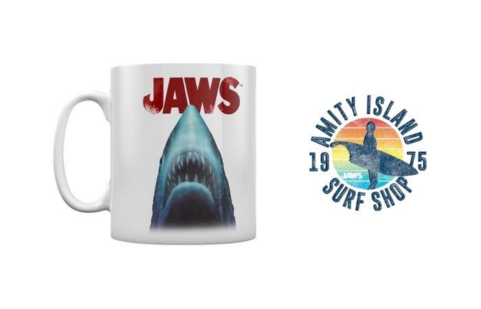 Jaws tasse en boite les dents de la mer amity island blanc