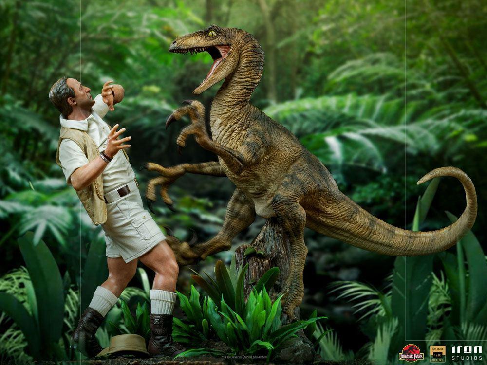Jurrasic park deluxe statuetteiron studio raptor suukoo toys figurine 2