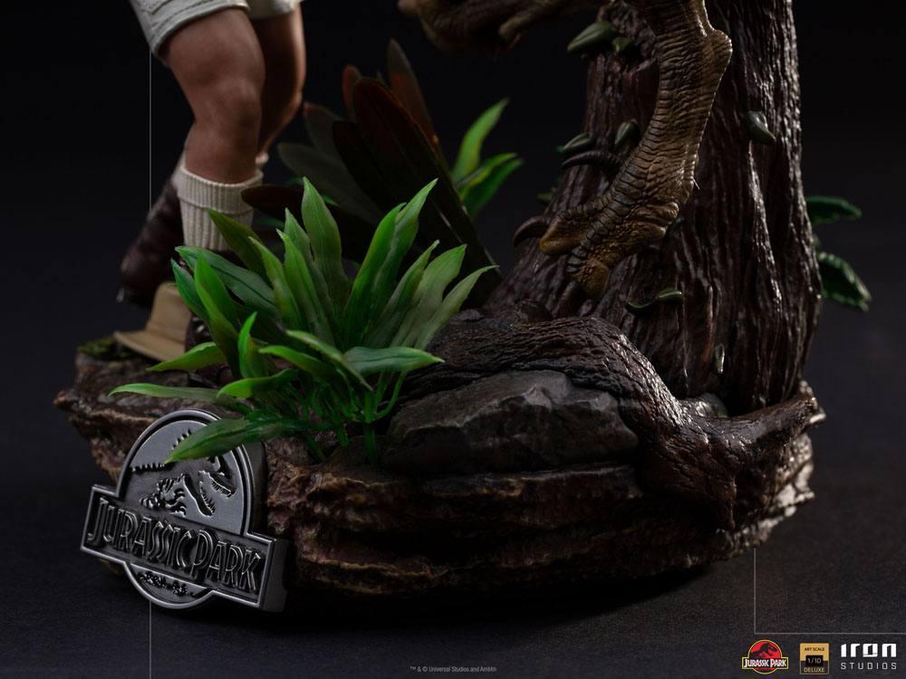 Jurrasic park deluxe statuetteiron studio raptor suukoo toys figurine 3