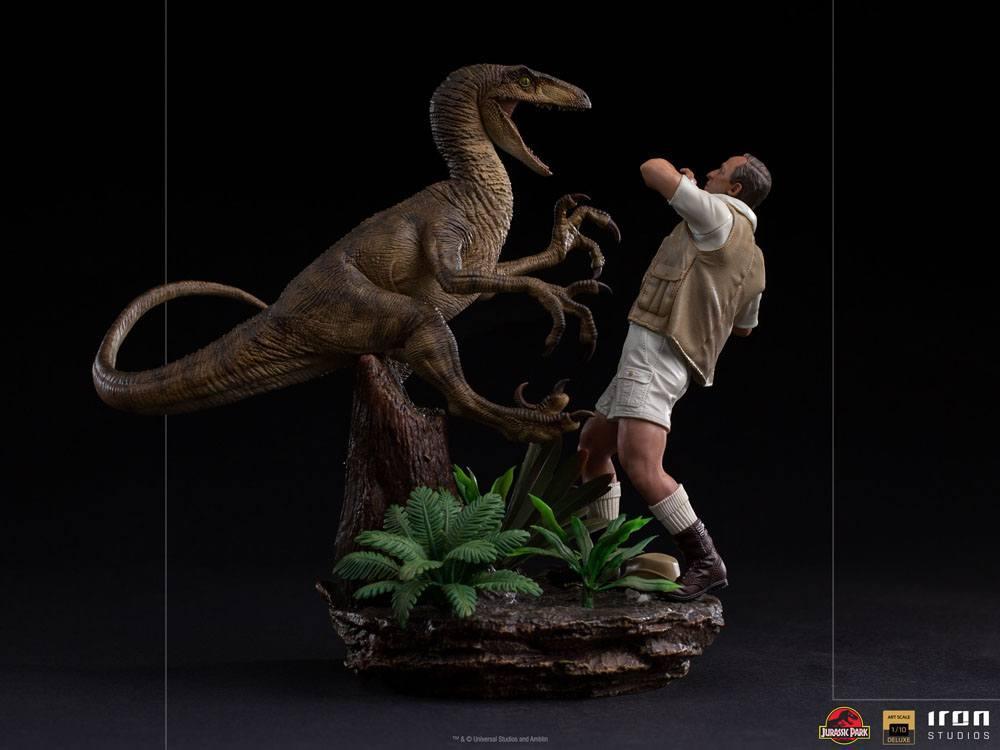 Jurrasic park deluxe statuetteiron studio raptor suukoo toys figurine 7