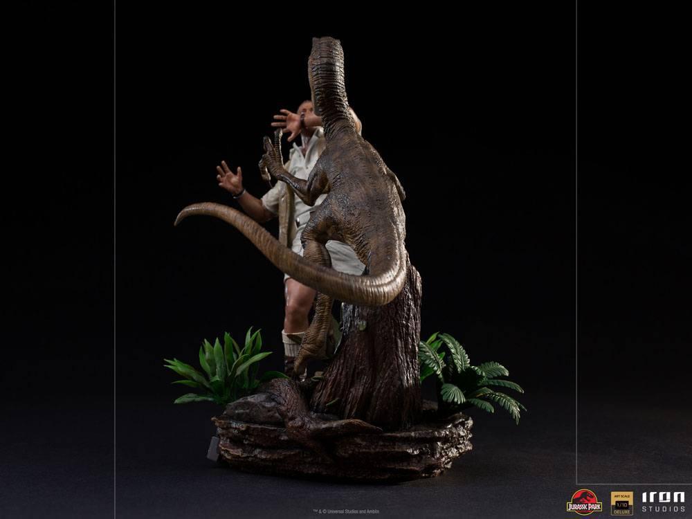 Jurrasic park deluxe statuetteiron studio raptor suukoo toys figurine 8