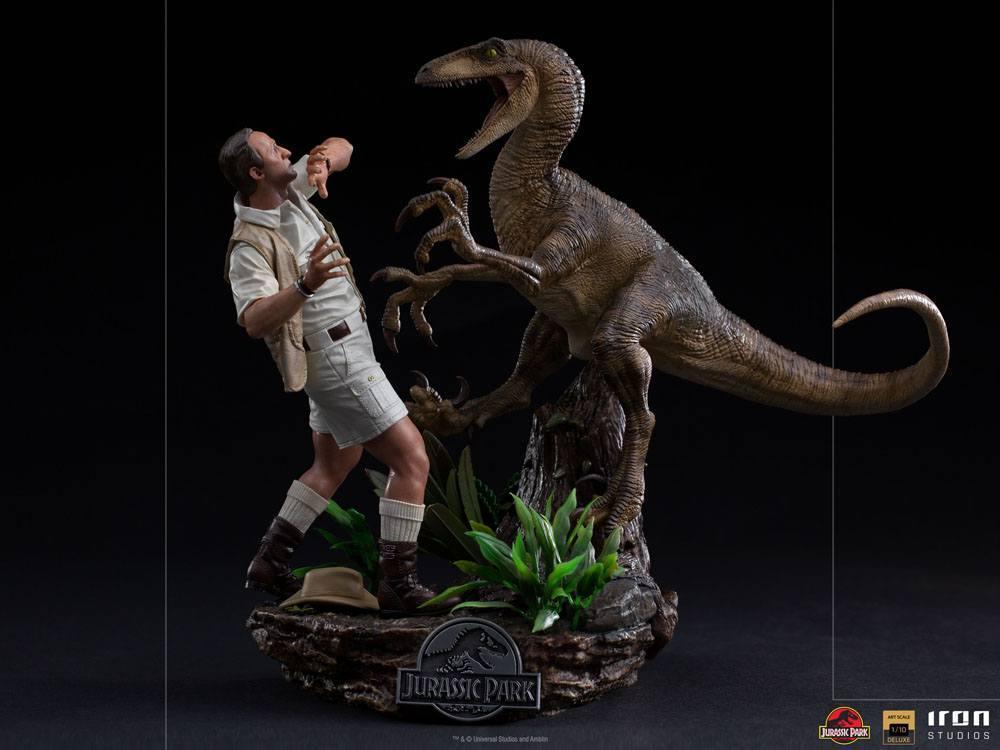 Jurrasic park deluxe statuetteiron studio raptor suukoo toys figurine 9