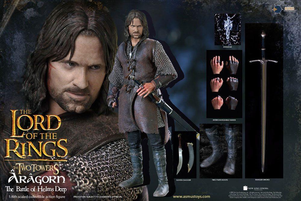 Le seigneur des anneaux figurine 16 aragorn at helm s deep 30 cm 10
