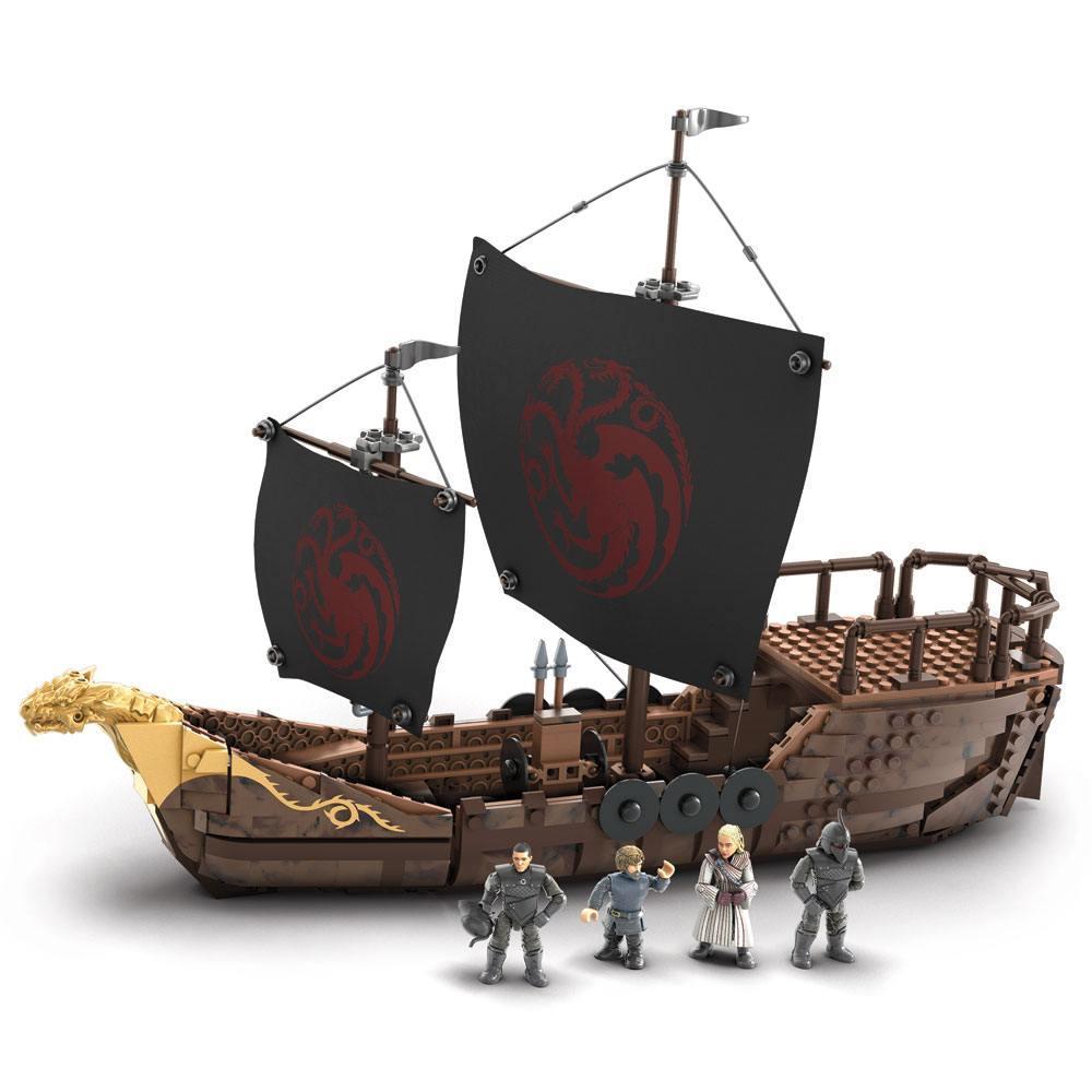 Le trone de fer jeu de construction mega construx black series targaryen warship