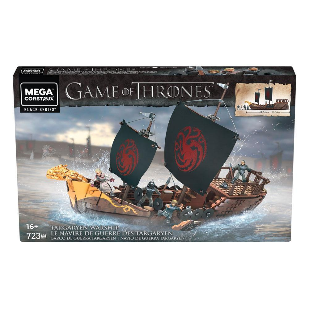 Le trone de fer mega construx black series targaryen warship mattel