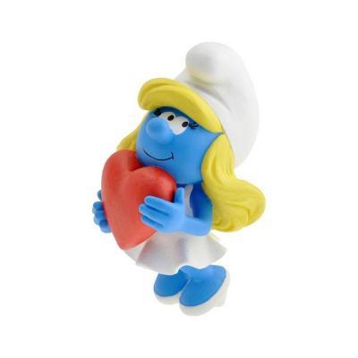 Les schtroumpfs statuette collector collection schtroumpfette tenant le coeur 15 cm suukoo toys 1