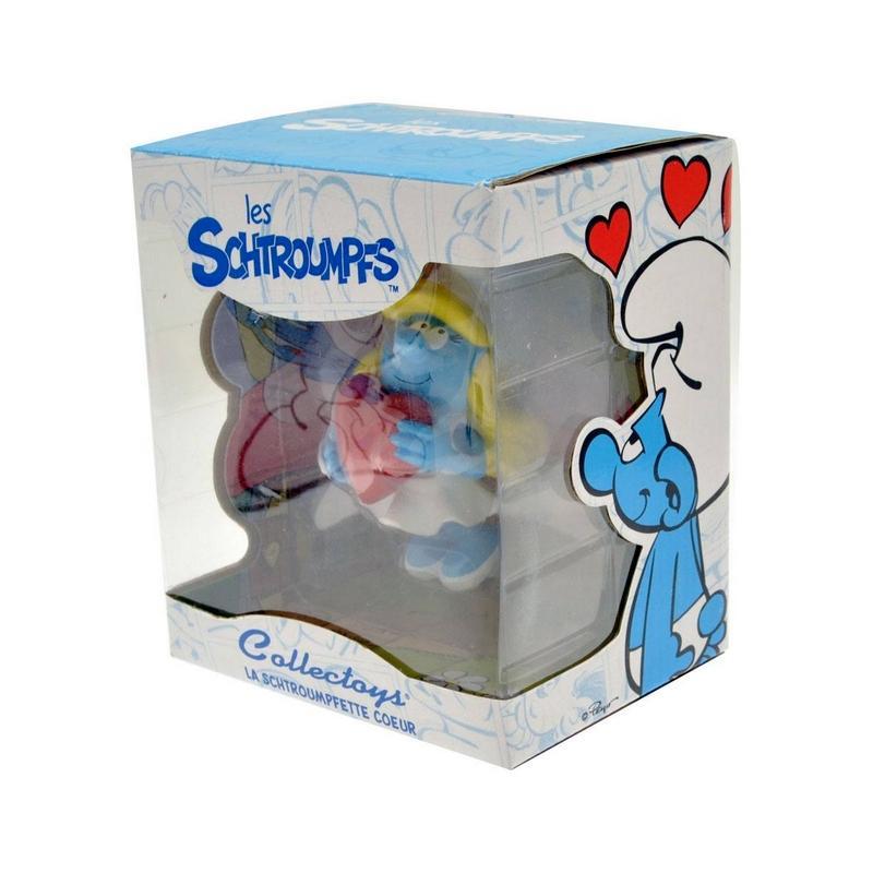 Les schtroumpfs statuette collector collection schtroumpfette tenant le coeur 15 cm suukoo toys 2