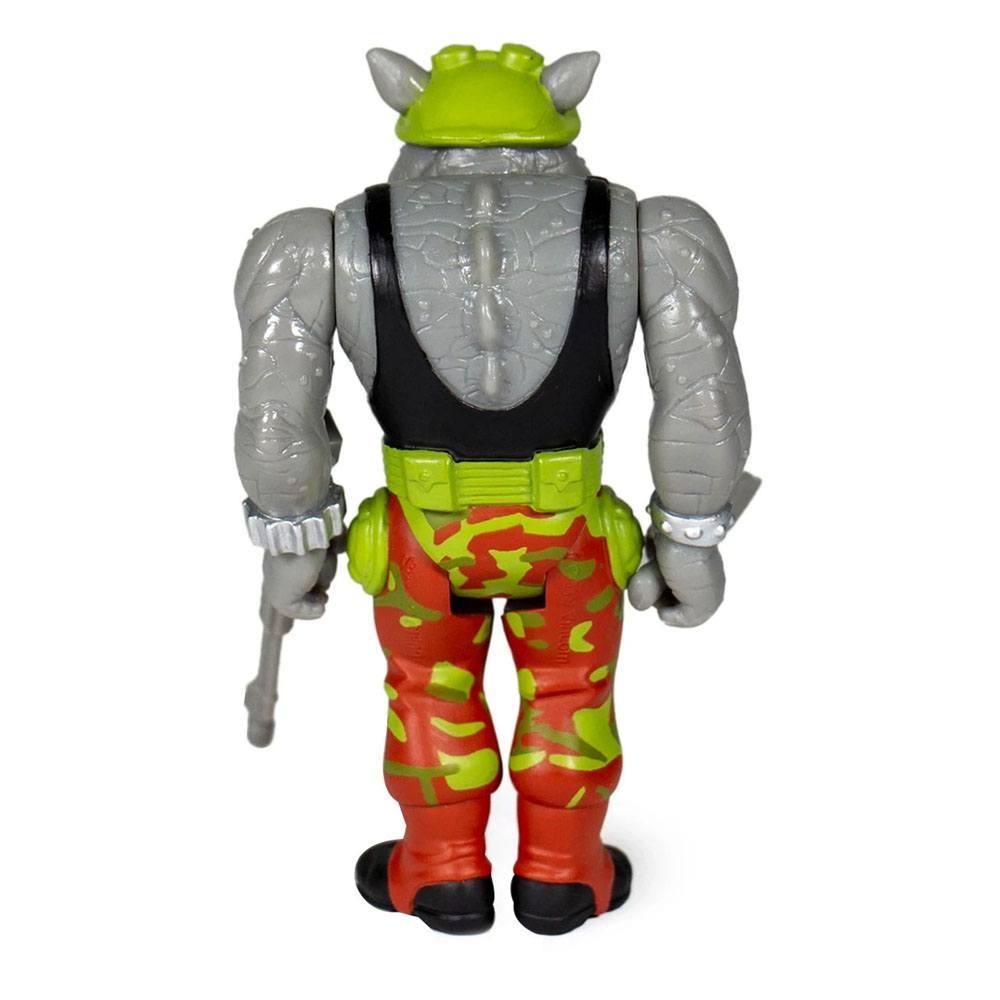 Les tortues ninja figurine reaction rocksteady 10 cm super7