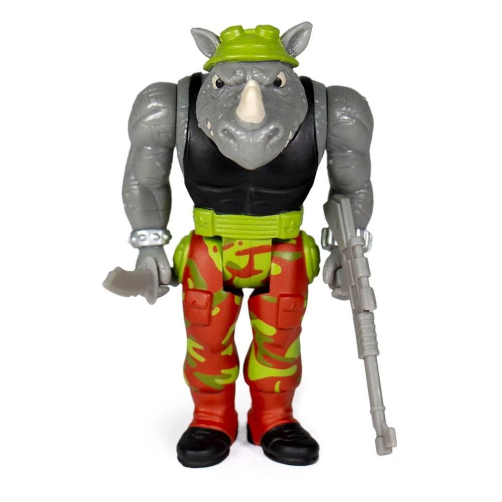 Les tortues ninja figurine reaction rocksteady 10 cm