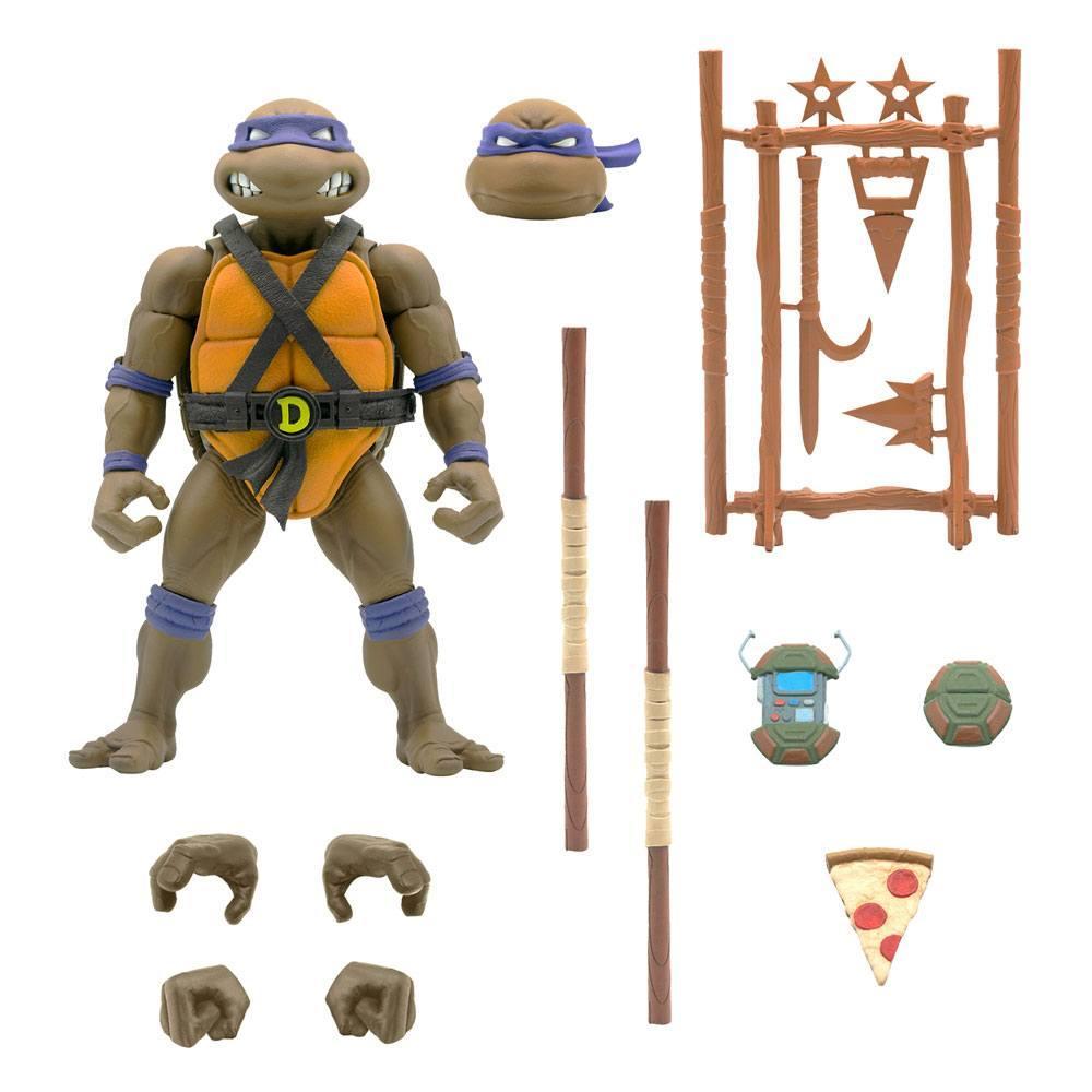 Les tortues ninja figurine ultimates donatello 18 cm 2
