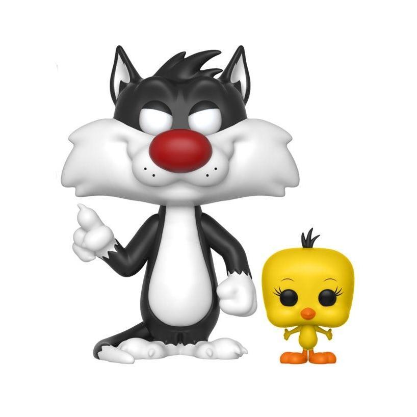 Looney tunes figurine pop television vinyl sylvester tweety 9 cm