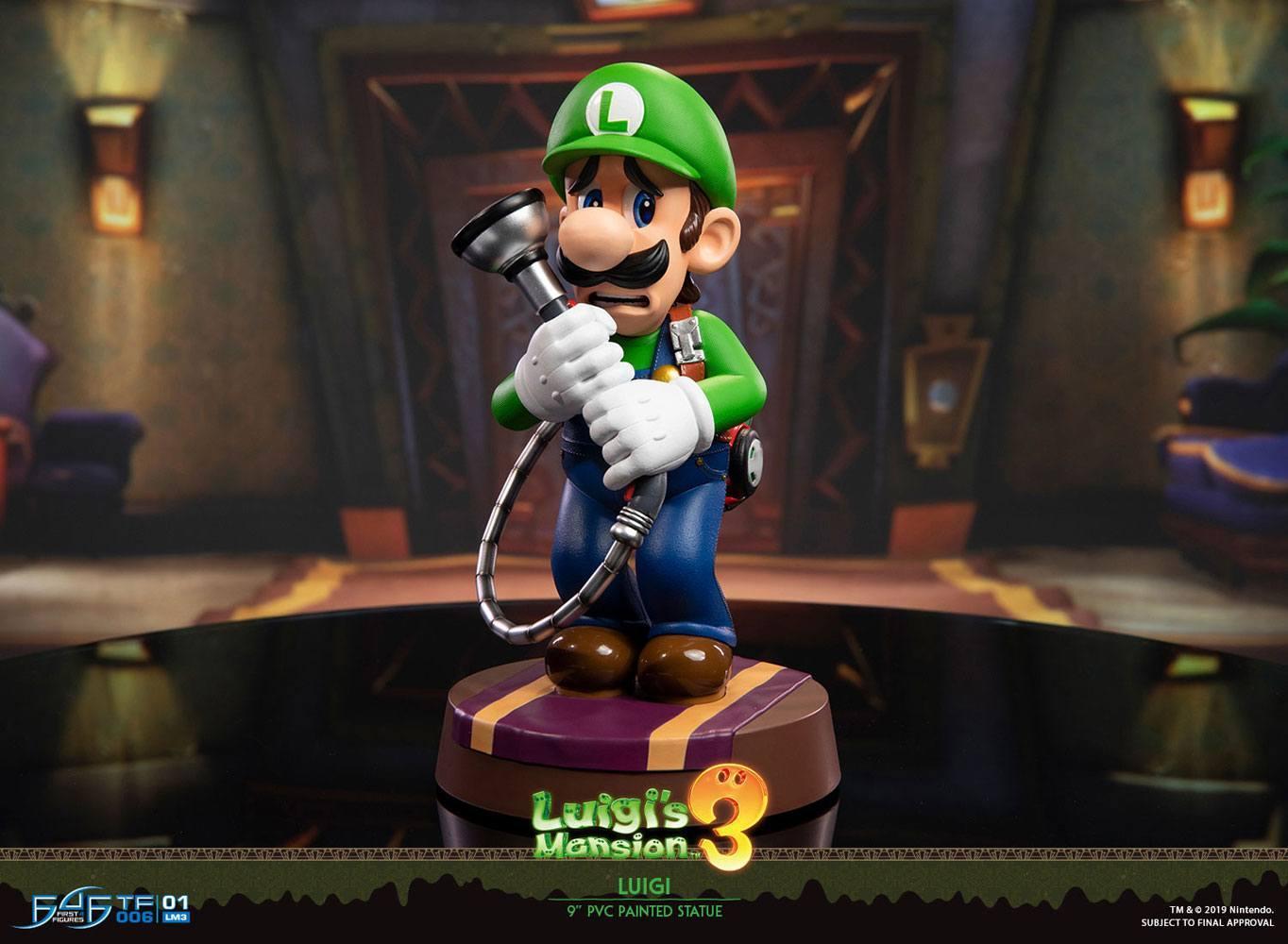 Luigi s mansion fist of 4 figure statuette