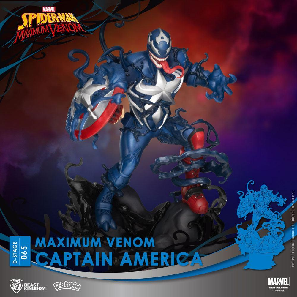 Marvel comics diorama pvc d stage maximum venom captain america 16 cm 1