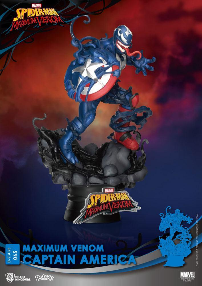 Marvel comics diorama pvc d stage maximum venom captain america 16 cm 2