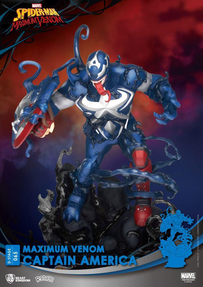 Marvel comics diorama pvc d stage maximum venom captain america 16 cm 5