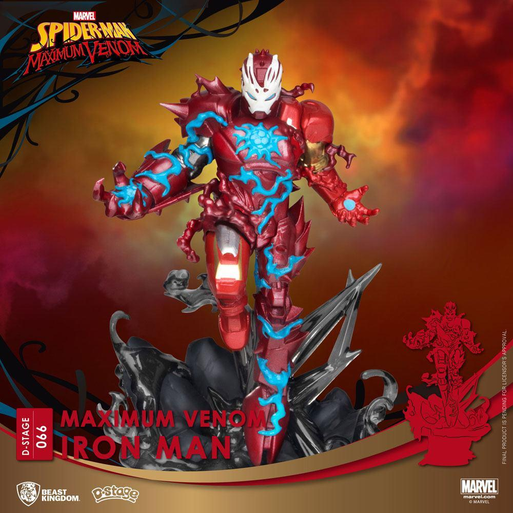 Marvel comics diorama pvc d stage maximum venom iron man 16 cm 2