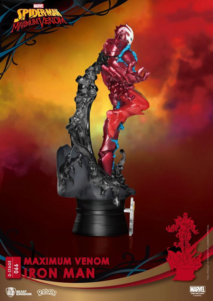 Marvel comics diorama pvc d stage maximum venom iron man 16 cm 4