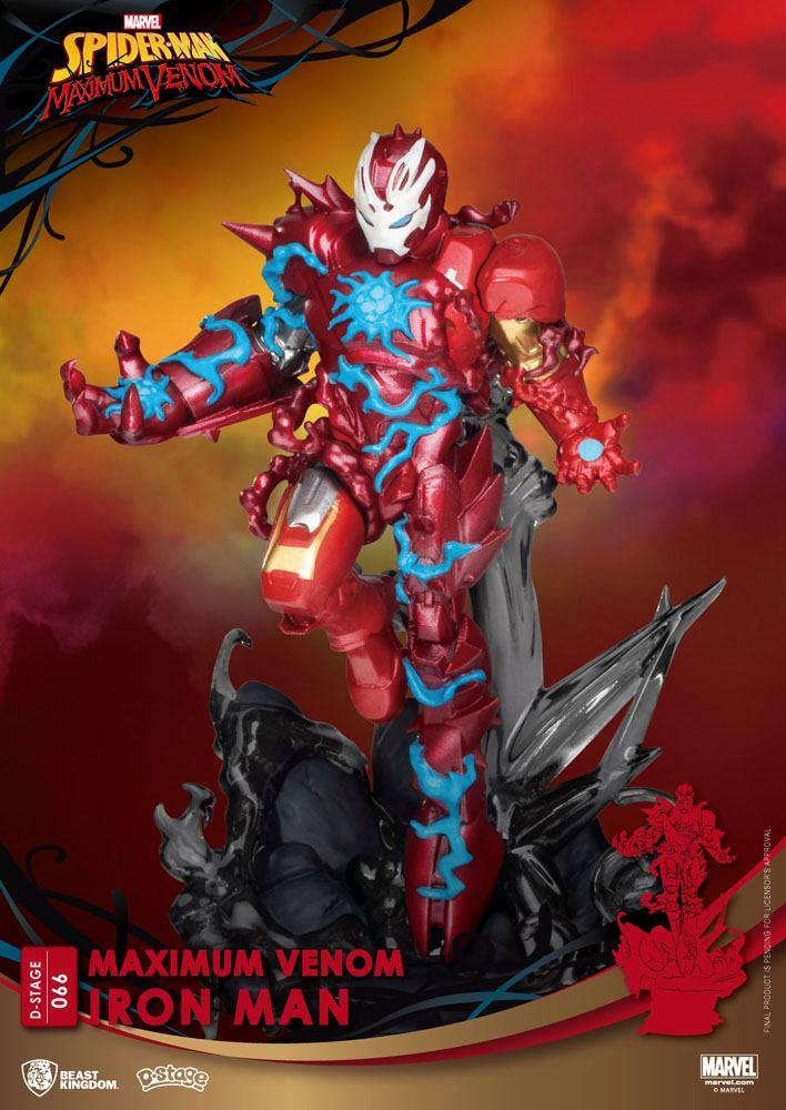 Marvel comics diorama pvc d stage maximum venom iron man 16 cm 6