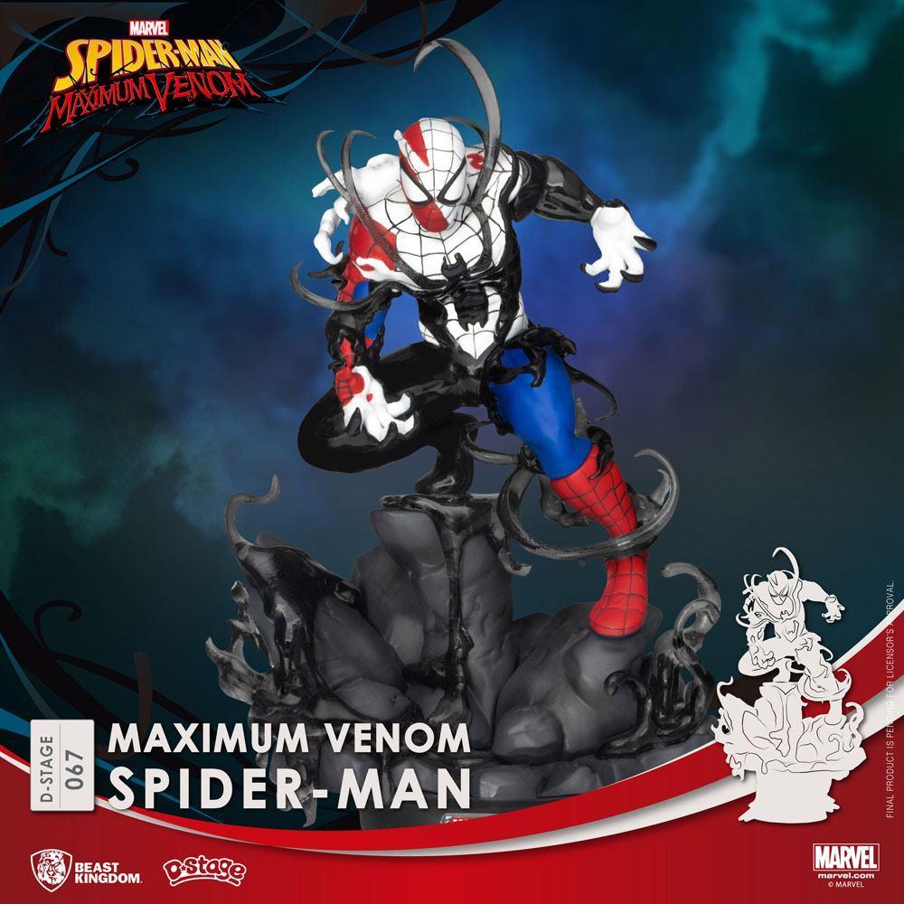 Marvel comics diorama pvc d stage maximum venom spider man 16 cm 1