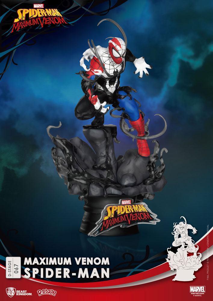 Marvel comics diorama pvc d stage maximum venom spider man 16 cm 2