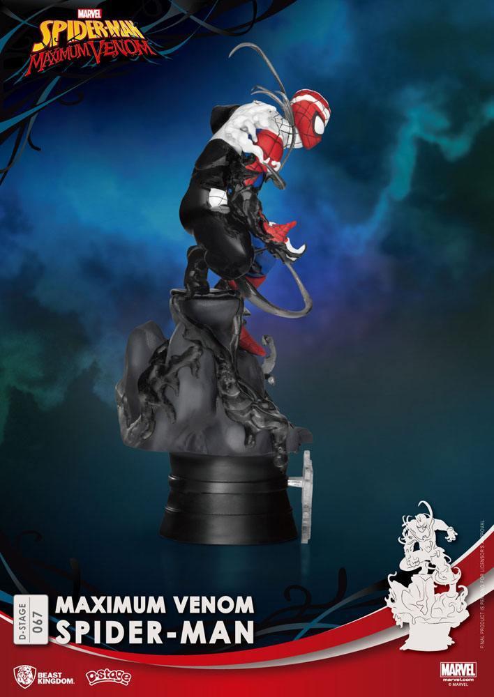 Marvel comics diorama pvc d stage maximum venom spider man 16 cm 3