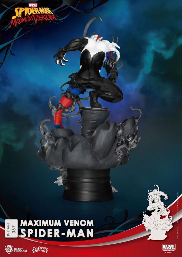 Marvel comics diorama pvc d stage maximum venom spider man 16 cm 4